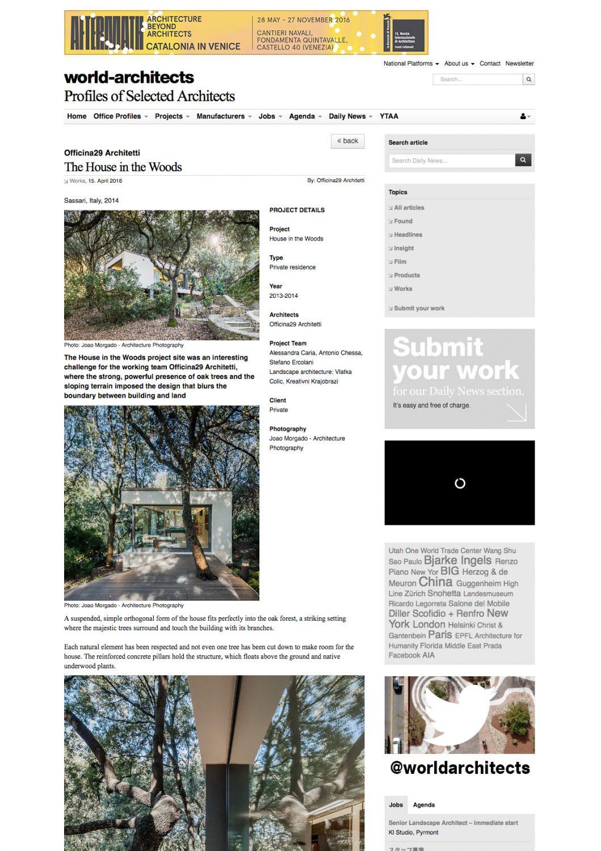 World Architects - Rivista di architettura