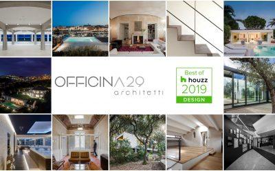 Officina29 Architetti vince il Best of Houzz 2019