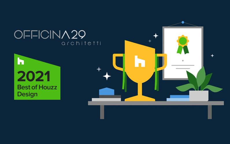 Officina29 Architetti vince il Best o Houzz 2021